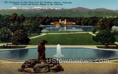 Panorama of City Park - Denver, Colorado CO Postcard