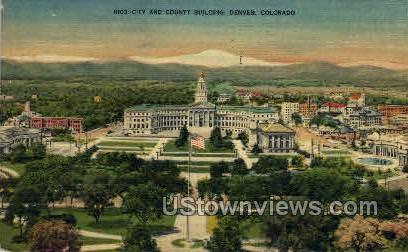 N103:-City and Country Building  - Denver, Colorado CO Postcard