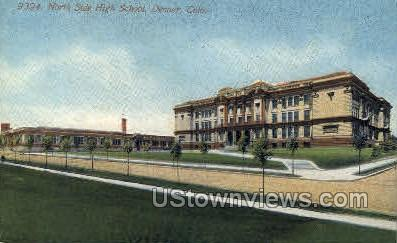9394. North Side High School - Denver, Colorado CO Postcard