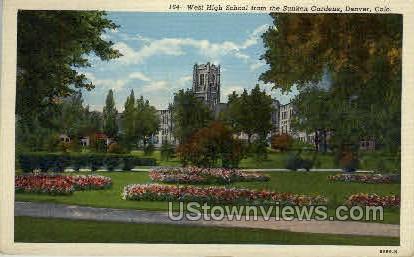 West high School,  - Denver, Colorado CO Postcard