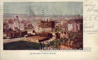 Panorama of Denver - Colorado CO Postcard