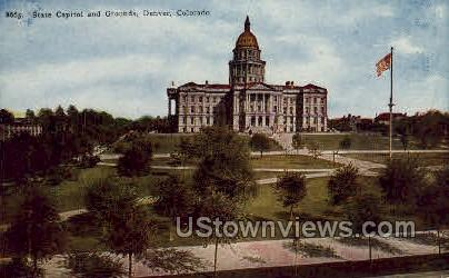 State Capitol and Grounds - Denver, Colorado CO Postcard