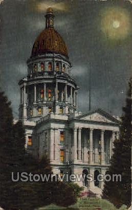 Capitol by Moonlight - Denver, Colorado CO Postcard