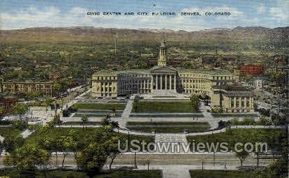Civic Center and City Building - Denver, Colorado CO Postcard