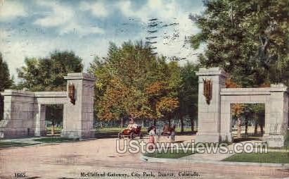 McClelland Gateway - Denver, Colorado CO Postcard