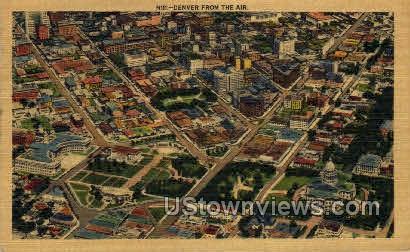 Denver From the Air - Colorado CO Postcard
