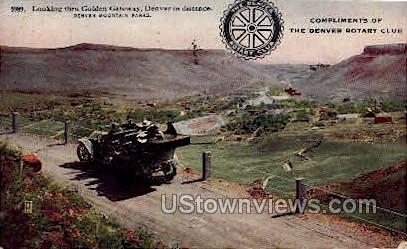 Golden Gateway - Denver, Colorado CO Postcard