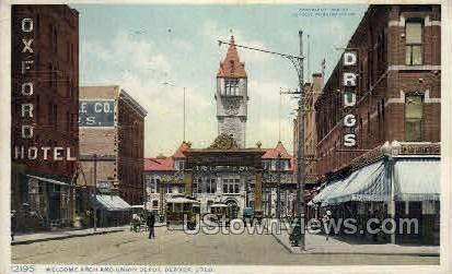 Arch and Union Depot - Denver, Colorado CO Postcard