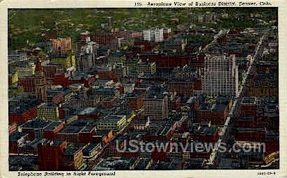 Business District - Denver, Colorado CO Postcard