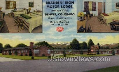 Brandin' Iron Motor Lodge - Denver, Colorado CO Postcard