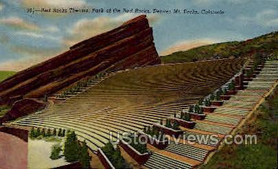 Red Rocks Theatre - Denver, Colorado CO Postcard