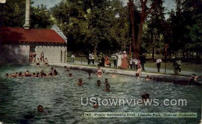 Swimming Pool, Lincoln Park - Denver, Colorado CO Postcard
