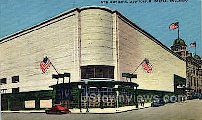 New Municipal Auditorium - Denver, Colorado CO Postcard