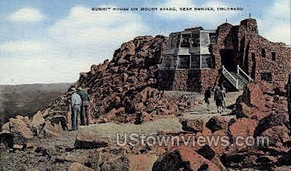 Summit House on Mount Evans - Denver, Colorado CO Postcard