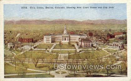 Civic Center  - Denver, Colorado CO Postcard