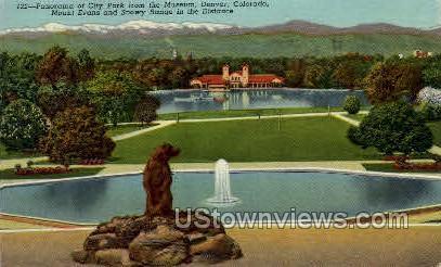Park from Museum - Denver, Colorado CO Postcard