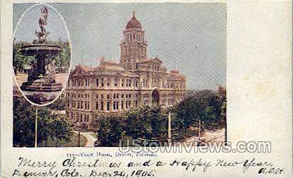 Court House - Denver, Colorado CO Postcard