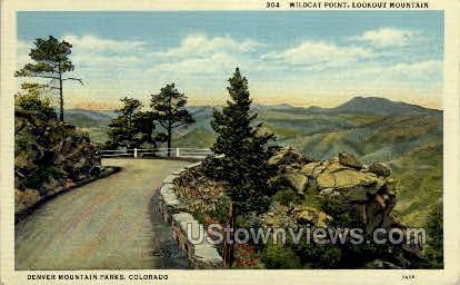 Wildcat Point, Lookout Mountain - Denver, Colorado CO Postcard