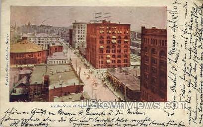 View of Seventeenth Street - Denver, Colorado CO Postcard