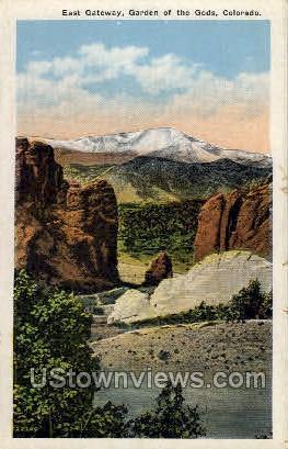 East Gateway, Garden of the Gods - Denver, Colorado CO Postcard