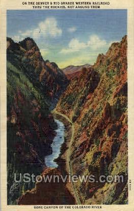 Denver & Rio Grande Western Railroad - Colorado CO Postcard