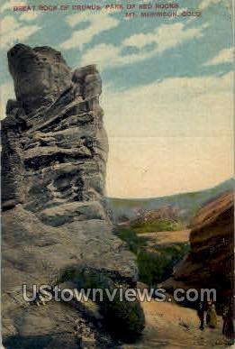 Great Rock of Cronus - Denver, Colorado CO Postcard
