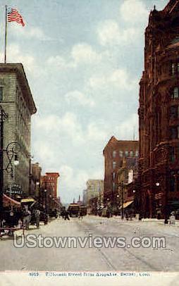 Fifteenth Street from Arapahoe - Denver, Colorado CO Postcard
