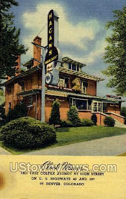 Clock Manor - Denver, Colorado CO Postcard