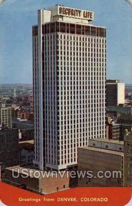 Security Life Building - Denver, Colorado CO Postcard