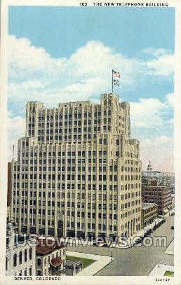 The New Telephone Building - Denver, Colorado CO Postcard