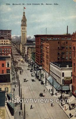 Sixteenth St. from Glenarm - Denver, Colorado CO Postcard