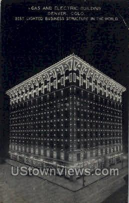 Gas and Electric Building - Denver, Colorado CO Postcard