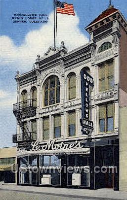Oddfellows Hall, Union Lodge - Denver, Colorado CO Postcard