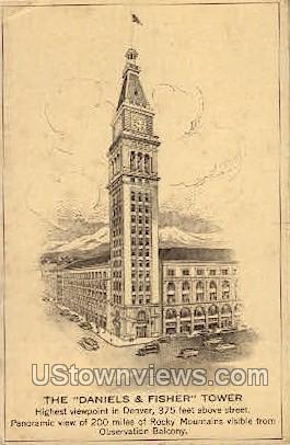 The Daniels & Fisher Stores Co. - Denver, Colorado CO Postcard