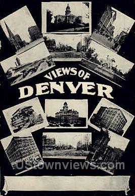 Views - Denver, Colorado CO Postcard