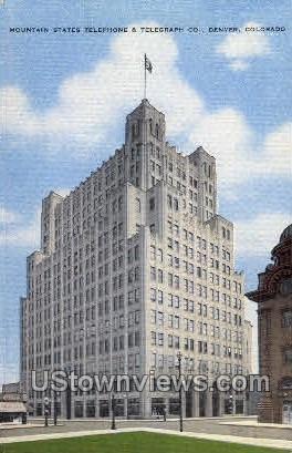 Mnt.States Tele & Telegraph Co. - Denver, Colorado CO Postcard