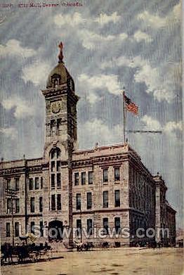 City Hall - Denver, Colorado CO Postcard