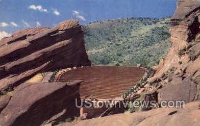 The Red Rocks Amphitheatre - Denver, Colorado CO Postcard