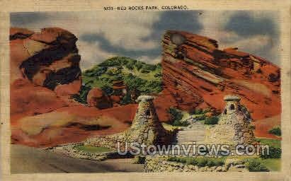 Red Rocks Park - Denver, Colorado CO Postcard