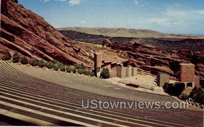 Stage & Amphitheatre Red Rocks Park - Denver, Colorado CO Postcard