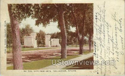 18th Avenue - Denver, Colorado CO Postcard