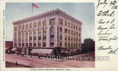 Court Building - Denver, Colorado CO Postcard
