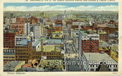 16th Street & Buiseness District - Denver, Colorado CO Postcard