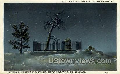 Buffalo Bill's Grave - Denver, Colorado CO Postcard