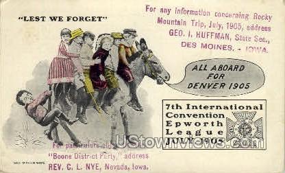 7th International Convention - Denver, Colorado CO Postcard