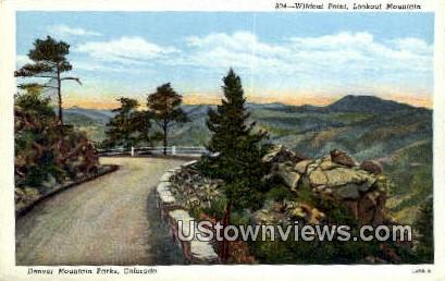 Wildact Point - Denver Mountain Parks, Colorado CO Postcard