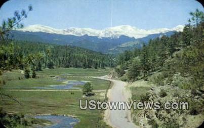 Mt. Evans, Bandemeer Region - Denver Mountain Parks, Colorado CO Postcard