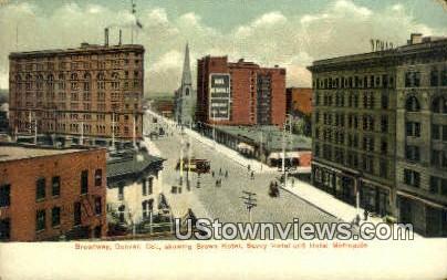 Broadway, Brown Hotel - Denver, Colorado CO Postcard