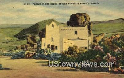 Pueblo, Red Rocks - Denver Mountain Parks, Colorado CO Postcard