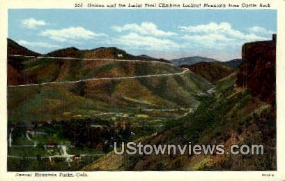 Golden, Lariat Trial Climbing - Denver Mountain Parks, Colorado CO Postcard